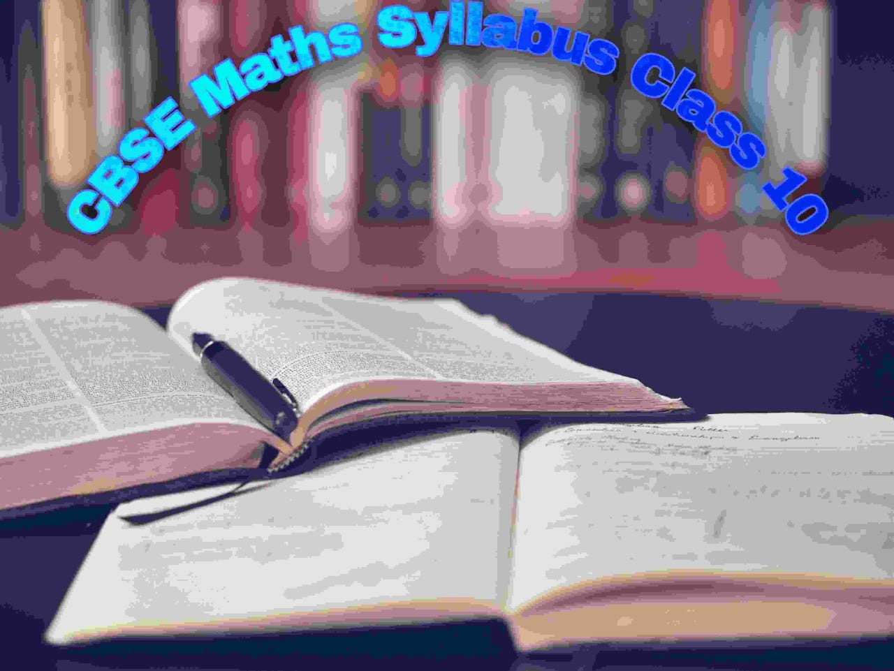 CBSE Maths Syllabus Class 10